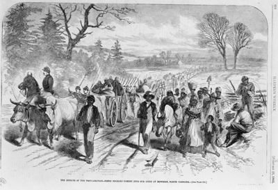 Movement of freed slaves