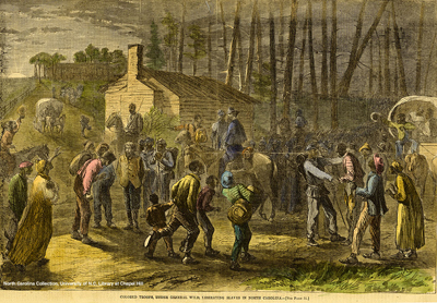 Edward A. Wild and Colored Troops liberate slaves
